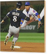 Ryan Braun and Starlin Castro Wood Print