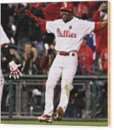 Ryan Howard and Jimmy Rollins Wood Print