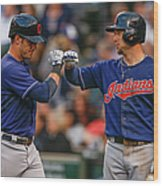 Ryan Raburn and Yan Gomes Wood Print