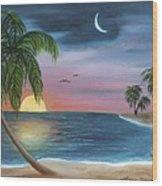 Sailors Moon Wood Print