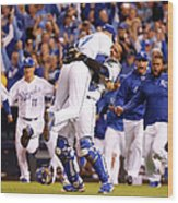 Salvador Perez Wood Print