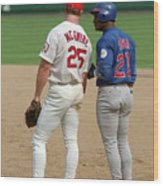 Sammy Sosa and Mark Mcgwire Wood Print