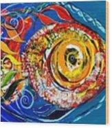 San Antonio Fish Wood Print