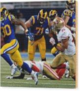 San Francisco 49ers v St Louis Rams Wood Print