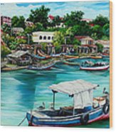 Sanfernando Wharf Wood Print