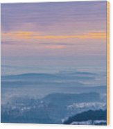 Scenic view of mountains during sunset Wood Print