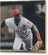 Scooter Gennett and Brandon Phillips Wood Print