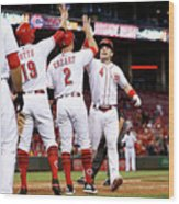 Scooter Gennett, Zack Cozart, and Joey Votto Wood Print