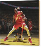 Serge Ibaka and Demarcus Cousins Wood Print