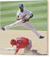Shane Victorino and Jimmy Rollins Wood Print