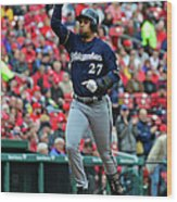 Shelby Miller and Carlos Gomez Wood Print