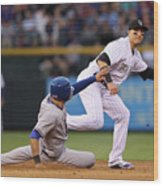 Shin-soo Choo and Troy Tulowitzki Wood Print