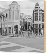 Shopping district in Beverly Hills Wood Print