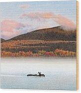 Silver Lake Crossing Wood Print