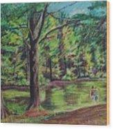 Sisters At Wason Pond Wood Print