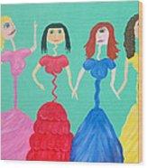 Skinny Miss Minnies..Anorexic Models Wood Print