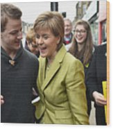 SNP Leader Nicola Sturgeon Unveils An Anti-Austerity Plan To Boost the NHS Wood Print