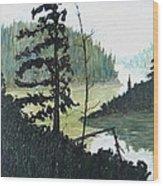 South of Sudbury Wood Print