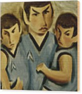 Spock Twins Art Print Wood Print