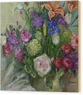 Spring  Bouquet copyrighted Wood Print