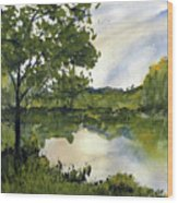 Spring Comes Slowly on the Suwannee River Wood Print