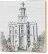 St George Temple - Celestial Series Wood Print