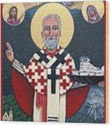 St. Nicholas Patron of Mariners Wood Print