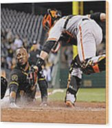 Starling Marte and Buster Posey Wood Print