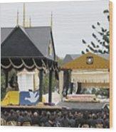 State Funeral For King Taufa'ahau Tupou IV of Tonga Wood Print