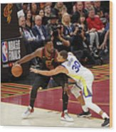 Stephen Curry and Jeff Green Wood Print