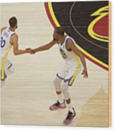 Stephen Curry and Kevin Durant Wood Print