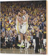 Stephen Curry and Klay Thompson Wood Print