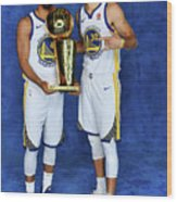 Stephen Curry and Quinn Cook Wood Print
