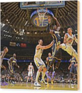 Stephen Curry and Roy Hibbert Wood Print