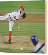 Stephen Strasburg and Dee Gordon Wood Print