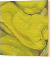 still life print oil painting art for saleYellow Peppers Wood Print