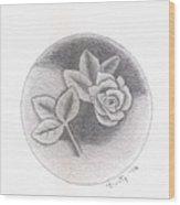 Stone Rose Wood Print