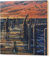 Sunrise At The Inlet Wood Print