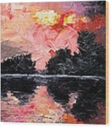 Sunset. After storm. Wood Print