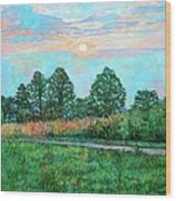 Sunset Near Fancy Gap Wood Print