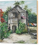 Sweet Island Life  Wood Print
