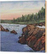 Swinging Bridge in Jay Cooke Park Wood Print