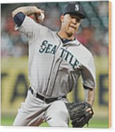 Taijuan Walker Wood Print