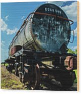 Tanker on Texas Central Railroad Wood Print