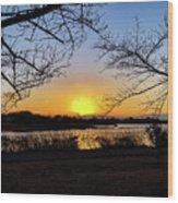 Tatebayashi Sunset Wood Print