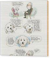 Ted Cruz's Dog Dishes Wood Print
