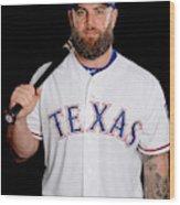 Texas Rangers Photo Day Wood Print