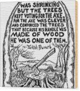The Axe Wood Print