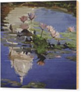 The Dome - Water Lilies Wood Print