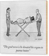 The Good News Wood Print